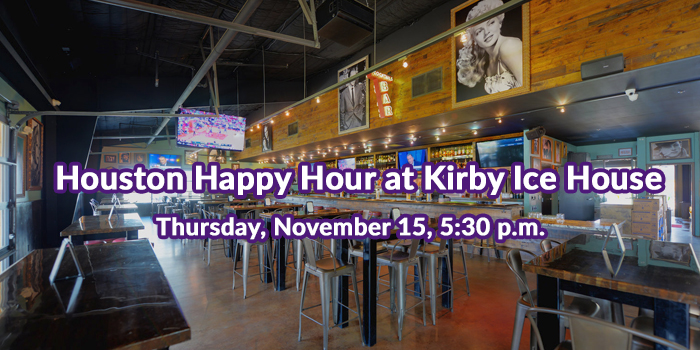 Houston Happy Hour at Kirby Ice House